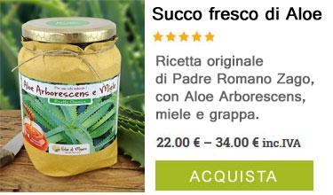 vendita succo fresco di aloe